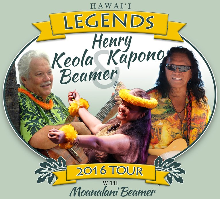 Keola Beamer, Henry Kapono, and Moanalani Beamer in Concert Tour 2016