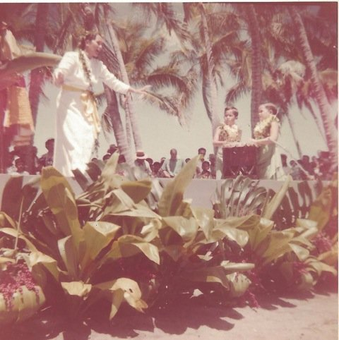 Nona Beamer with Her Sons - Keola & Kapono