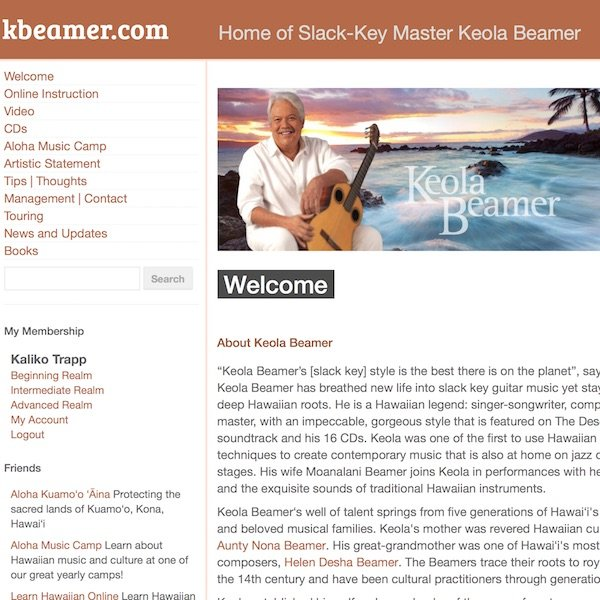 kbeamer.com homepage screenshot image