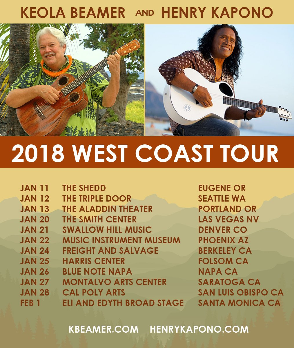 2018 Tour w/ Henry Kapono and Moanalani Beamer